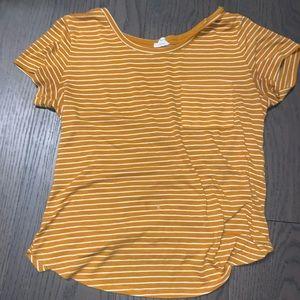 Garage yellow stripped T shirt